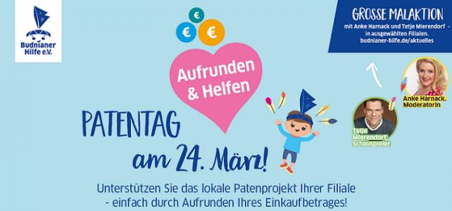 Patentag am 24. März in allen BUDNIs. Mit dabei: Anke Harnack und Tetje Mierendorf!