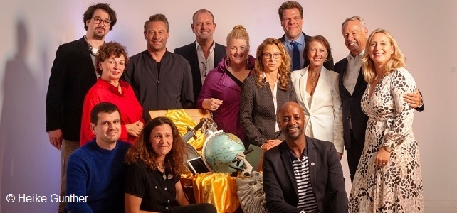 Foto der Preisträger, Jury-Mitglieder und Stars des Abends