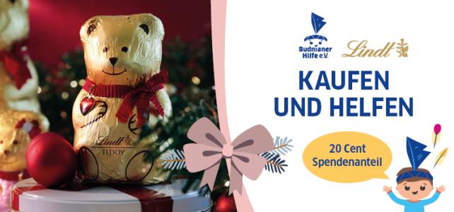 Kaufen & Helfen: LINDT  Schoko Teddys mit Spendenanteil