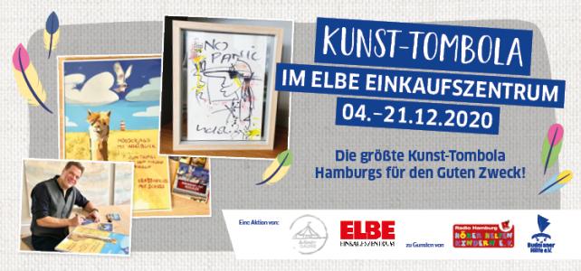 Kunsttombola vom Elbe Einkaufszentrum und der WanderGalerie mit Spendenerlös für uns